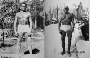 The Hisotry of Pilates - Joseph Pilates at 57 and 87 years old.